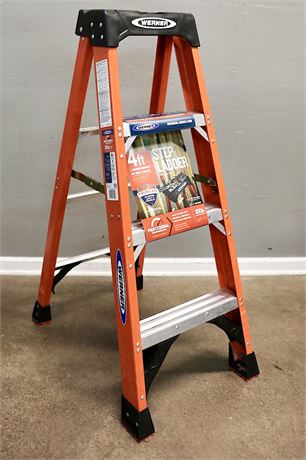 Werner 4' Professional Ladder, with 300 lb capacity