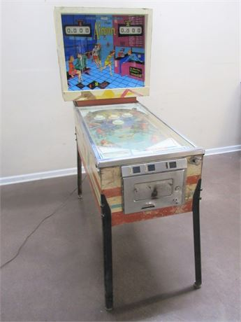 VINTAGE 1969 D. GOTTLIEB & CO. 2 PLAYER PINBALL MACHINE - AIRPORT