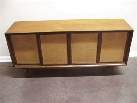 PHILCO MID CENTURY STEREO CONSOLE WITH PHONOGRAPH