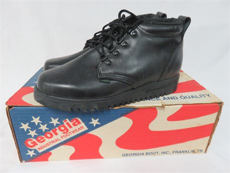 GEORGIA Men's Oxford Leather Work Shoes - SIZE 7.5W