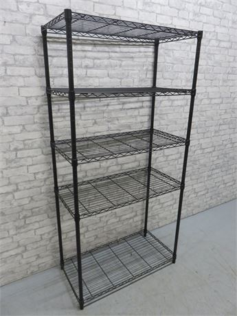 Black Metal Storage Shelf Unit