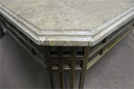 Marble & Metal Square Center Table