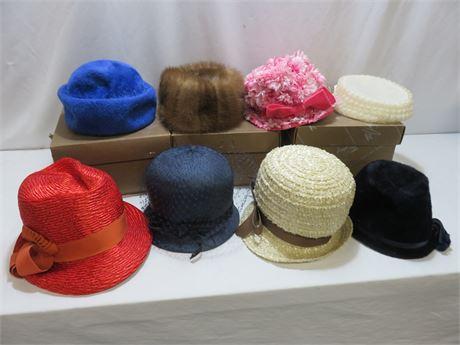 Vintage Ladies Hat Lot