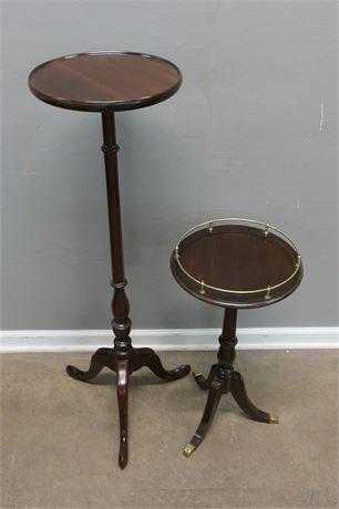Two Pedestal tables with Three Legs