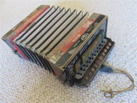"Vintage German ""Gloria"" 10-Key Accordion"