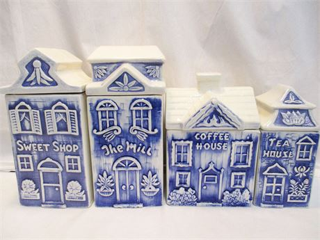 CHARMING VINTAGE CANISTER SET BY JUDY OF CALIFORNIA