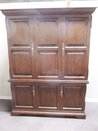 STUNNING FREMARC ENGLISH WALNUT OFFICE ARMOIRE