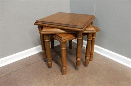 Vintage Wood Nesting Tables