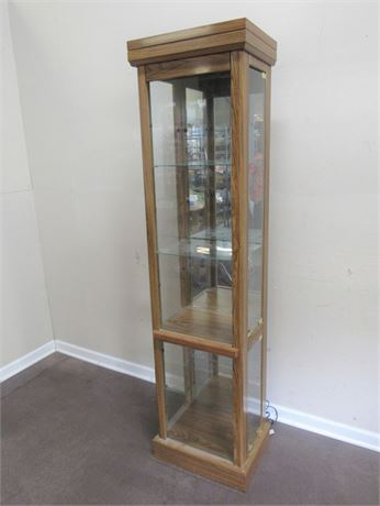 OAK CURIO/DISPLAY CABINET