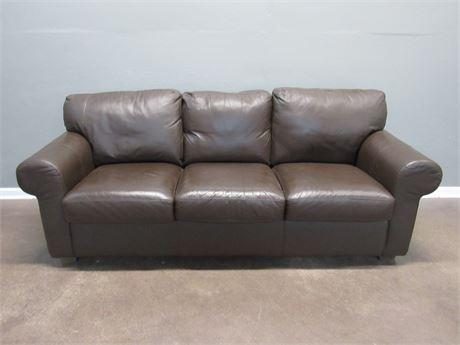 Brown Leather Like Sofa