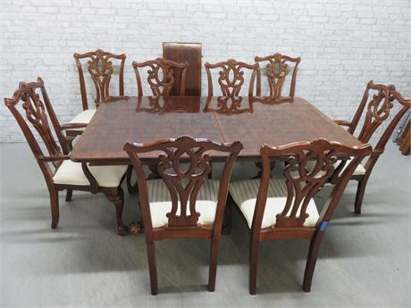 Chippendale Cherry Dining Table Set