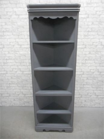 5 SHELVE CORNER DISPLAY/CABINET