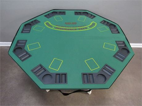 Folding Black Jack Game Table/Top