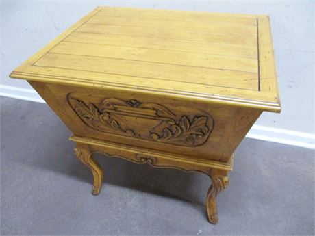 CARVED DOUGH BOX TABLE