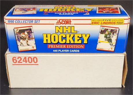 1990 SCORE HOCKEY PREMIER EDITION HOCKEY SET MARTIN BRODEUR ROOKIE CARD!