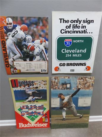 Cleveland Browns & Indians Posters