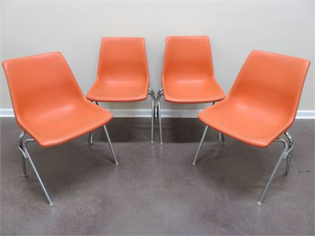Vintage Mid-Century KRUEGER Molded Stackable Chairs