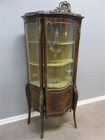 Vintage Victorian Style Curio Cabinet