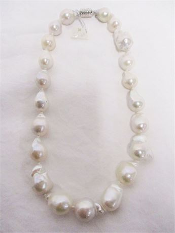 "KWAN COLLECTION FRESH WATER 17"" CULTURED PEARL NECKLACE"