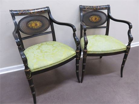 Asian Teak Wood Chairs