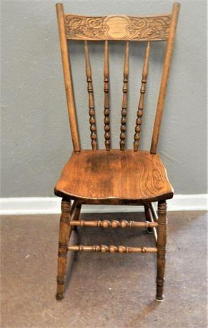 Vintage Wood Spindle Back Chair