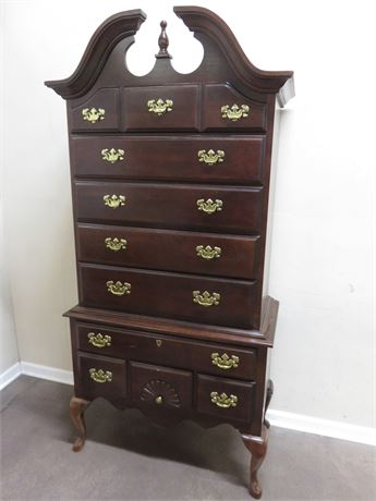 AMERICAN DREW Queen Anne Cherry Highboy Chest