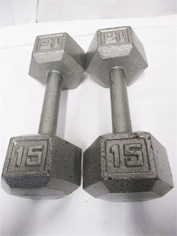 SET OF 15-LB. HAND WEIGHTS