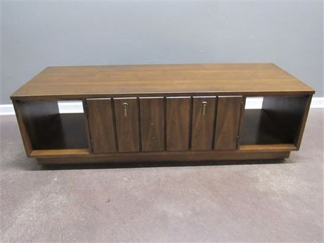 Mid Century Modern Coffee Table on Casters