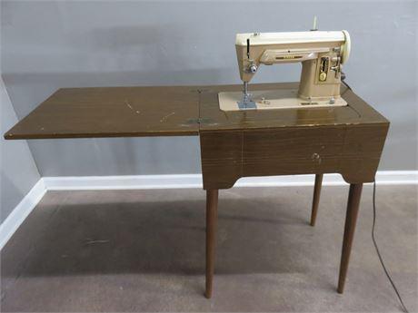 Vintage Mid-Century Singer Sewing Machine