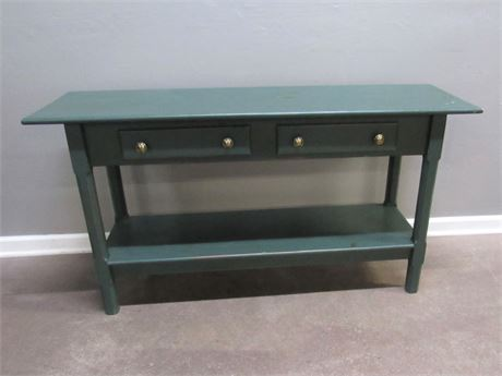 Country Style Rustic Farmhouse Console/Sofa Table