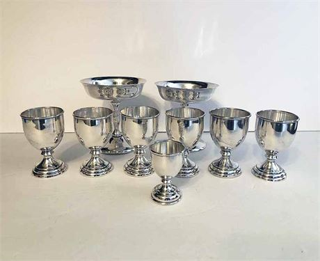 Sterling Silver Cordial, Champagne & Egg Cup Peru