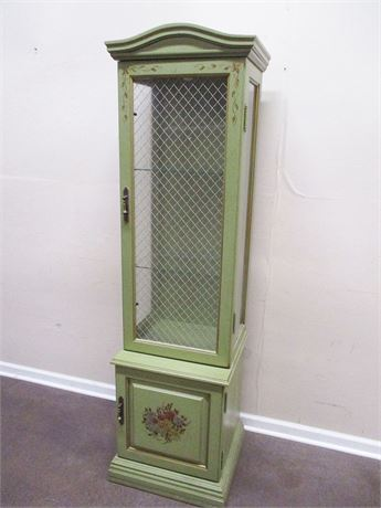 VERY NICE NARROW CURIO CABINET