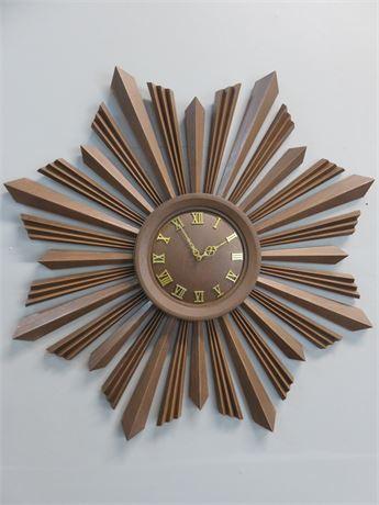 Vintage 1958 Mid-Century Sunburst Wall Clock
