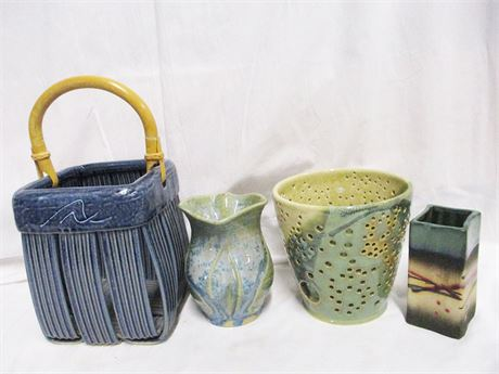 LOT OF BEAUTIFUL POTTERY FEATURING JIM AND SHIRL PARMENTIER