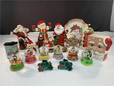 Christmas Lot 18 pieces including Fitz Floyd Plate