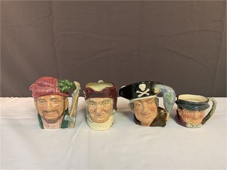 (4) Royal Doulton Toby Mugs