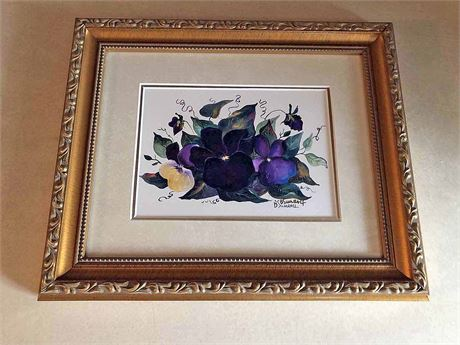 B. Sumrall Signed Watercolor