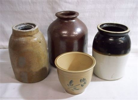 4 PIECE STONEWARE LOT