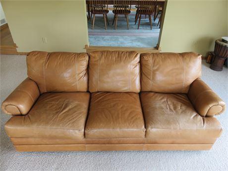 ARHAUS Butterscotch Leather Sofa