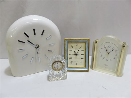 4-Piece Shelf Clock Lot