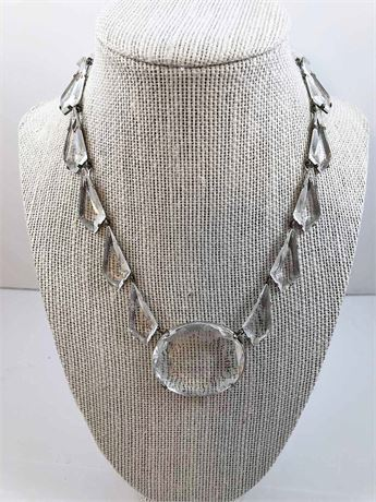 Clear Gem Stone Necklace