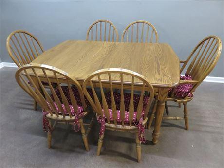 EDRICH MILLS Oak Dining Table Set