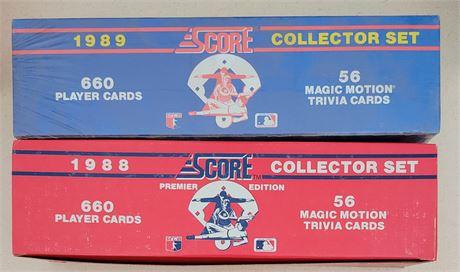 1988 & 1989 Score Baseball Factory Sealed Sets
