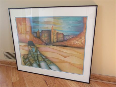 Framed and Double Matted Artwork