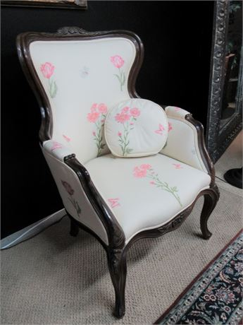 Nice Vintage Re-upholstered Fireside Chair.