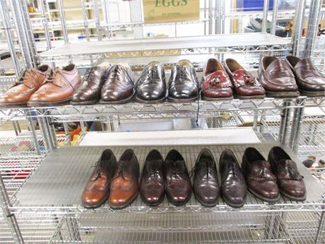 LOT OF 9 PAIRS MEN'S SHOES - SIZES 8 AND 8.5