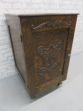 Antique Tiger Wood Cabinet