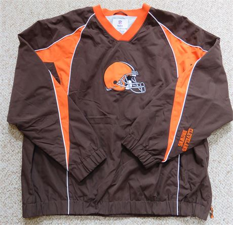 CLEVELAND BROWNS Mens Pullover Windbreaker Jacket - Size XL