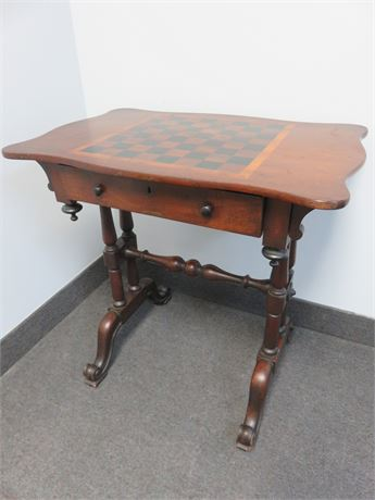 Vintage French Victorian Chess Table