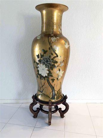 Large Floor Vase & Stand